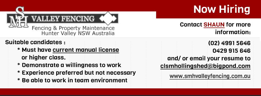 We're Hiring – Fencing & Property Maintenance