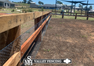 Post Rail and Mesh Fencing Hunter Valley - Cessnock Fencing Company